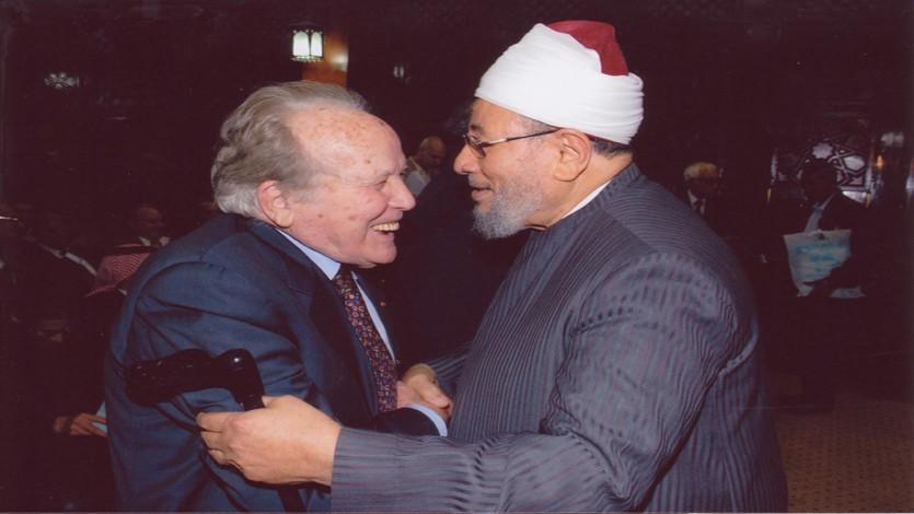 مع العلامة المغربي الراحل الدكتور عبد الهادي التازي