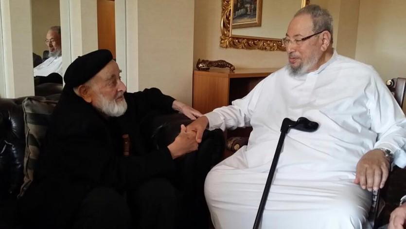 مع رفيق الدراسة في مصر الشيخ محمد أمين سراج أحد كبار علماء تركيا