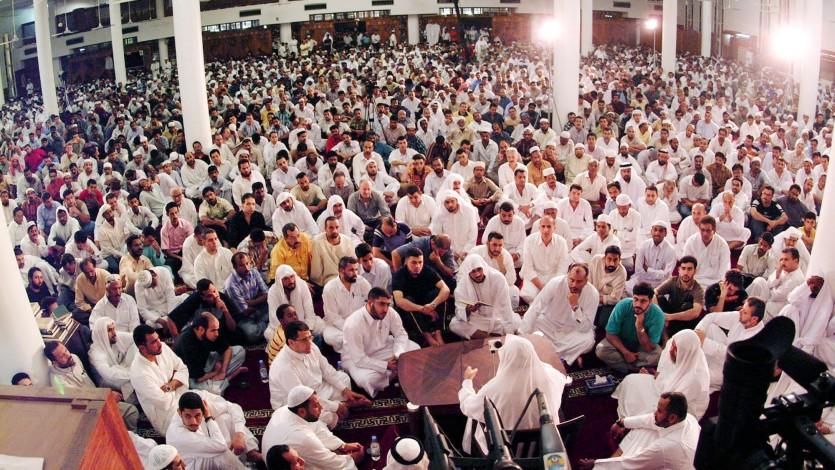 درس لفضيلته بأحد مساجد الدوحة
