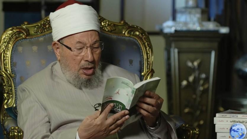 يقرأ من ديوانه