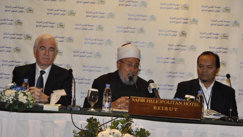 في أحد مؤتمرات مؤسسة القدس الدولية