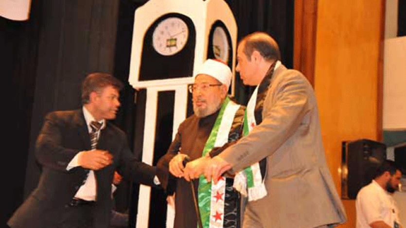 في احتفالية بذكرى الثورة السورية الأولى بالقاهرة (2012)