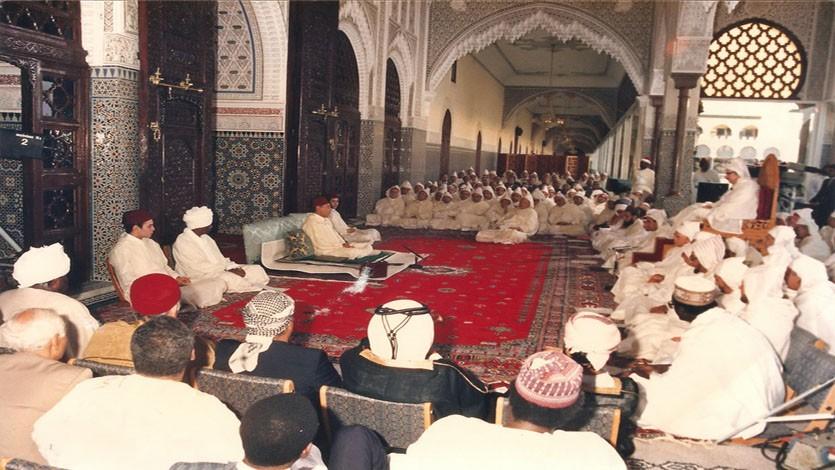 (145) زيارة المغرب والمشاركة بدرس من الدروس الحسنية