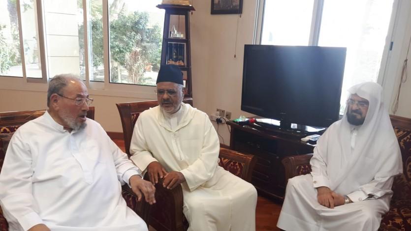 مع فضيلة الدكتور أحمد الريسوني وفضيلة الدكتور علي القره داغي