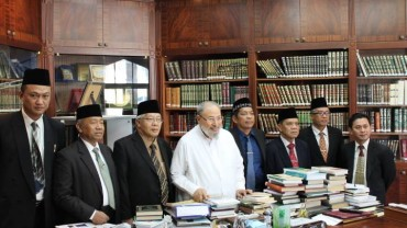مع وفد الجامعة الإسلامية الحكومية بإندونيسيا