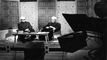 مع الشيخ الدكتور عبد الحليم محمود في أحد البرامج التلفزيونية