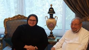 مع سعادة الدكتورة بصيرة توركوفيتش سفيرة البوسنة والهرسك بالدوحة