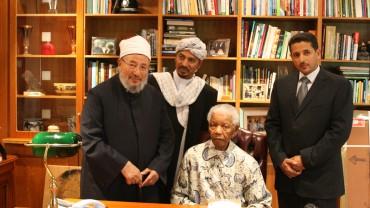 في زيارة للزعيم الجنوب أفريقي الشهير نيلسون مانديلا