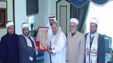 في استقبال وفد قضاة فلسطين الحبيبة (2012)