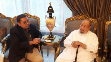 مع د.فاضل زون نائب رئيس مجلس النواب الإندونيسي ورئيس المنظمة العالمية للبرلمانيين